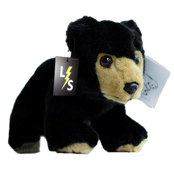 Toy - LightningStore Adorable Cute Baby Black Bear Doll Realistic Looking Stuffed Animal Plush Toys Plushie Children's Gifts Animals