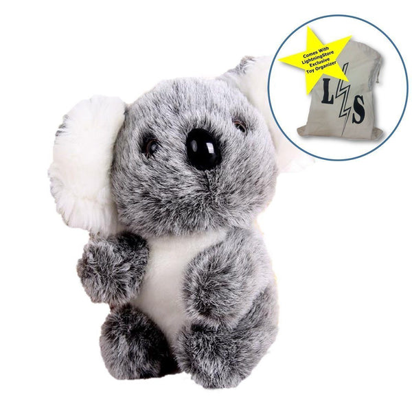 Toy - LightningStore Adorable Cute Baby Koala Doll Realistic Looking Stuffed Animal Plush Toys Plushie Children's Gifts Animals + Toy Organizer Bag Bundle