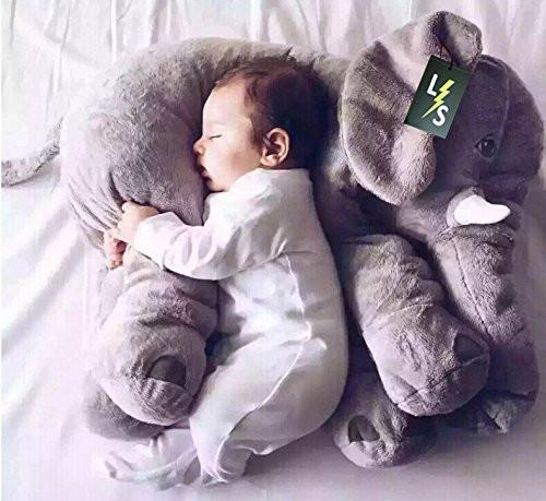 Toy - LightningStore Adorable Cute Baby Pillow Cushion Elephant Stuffed Animal Doll Realistic Looking Plush Toys Plushie Children's Gifts Animals + Toy Organize Bag Bundle