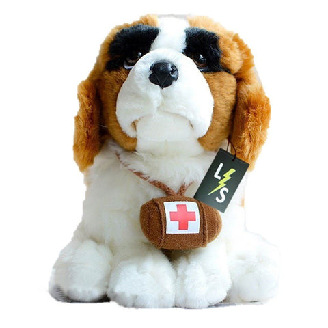 Toy - LightningStore Adorable Cute Baby Saint Bernard Doctor Nurse Cross Puppy Doll Realistic Looking Stuffed Animal Plush Toys Plushie Children's Gifts Animals