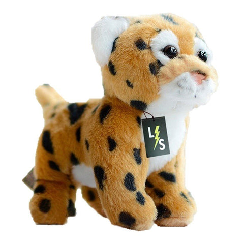 Toy - LightningStore Adorable Cute Baby Standing Leopard Jaguar Cheetah Cub Doll Realistic Looking Stuffed Animal Plush Toys Plushie Children's Gifts Animals