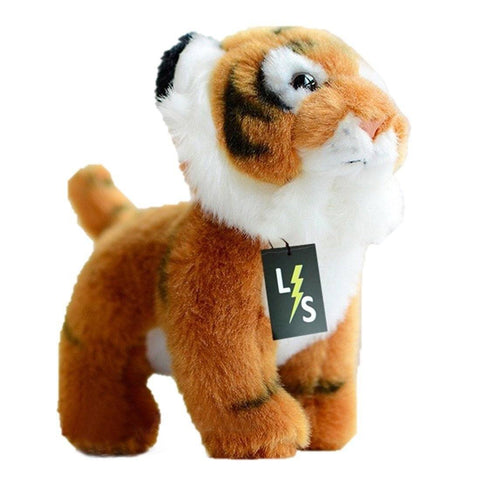 Toy - LightningStore Adorable Cute Baby Standing Tiger Cub Doll Realistic Looking Stuffed Animal Plush Toys Plushie Children's Gifts Animals