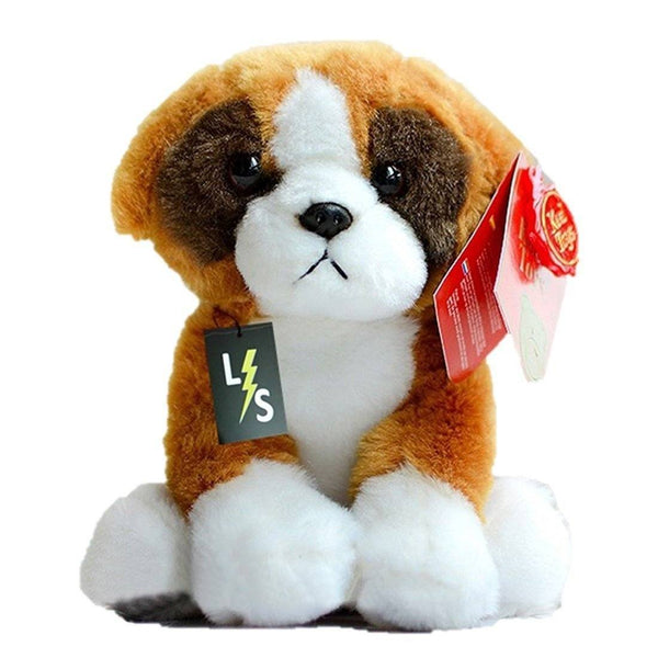 Toy - LightningStore Adorable Cute Baby Standing White And Brown Beagle Bull Dog Hybrid Doll Realistic Looking Stuffed Animal Plush Toys Plushie Children's Gifts Animals