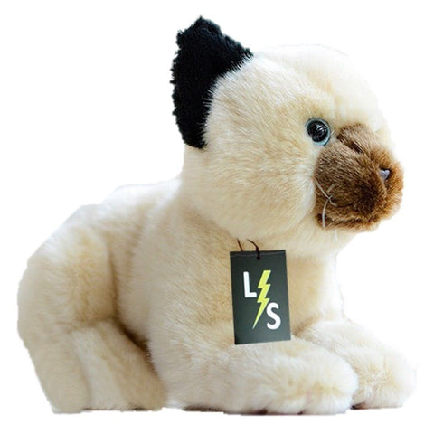 Toy - LightningStore Adorable Cute Balinese Cat Kitten Stuffed Animal Doll Realistic Looking Plush Toys Plushie Children's Gifts Animals