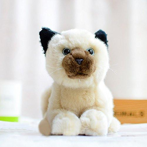 Lightningstore Adorable Cute Balinese Cat Kitten Stuffed Animal Doll Realistic Looking Plush Toys Plushie Children S Gifts Animals