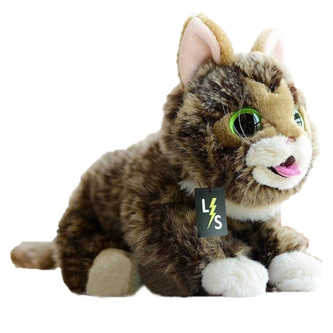 Toy - LightningStore Adorable Cute Big Eyes Cat Lynx Doll Realistic Looking Stuffed Animal Plush Toys Plushie Children's Gifts Animals