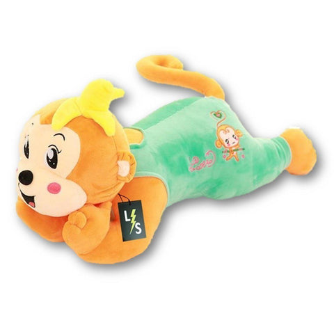 Toy - LightningStore Adorable Cute Big Giant Large Green Yellow Pink Red Monkey Pillow Cushion Bolster Stuffed Animal Doll Realistic Looking Plush Toys Plushie Children's Gifts Animals