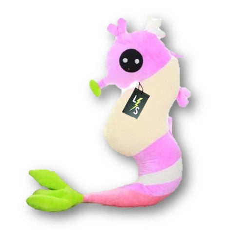 Toy - LightningStore Adorable Cute Big Giant Large Pink Yellow Blue Brown Sea Horse Stuffed Animal Doll Realistic Looking Plush Toys Plushie Children's Gifts Animals