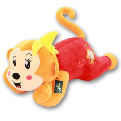 Toy - LightningStore Adorable Cute Big Giant Large Red Yellow Green Pink Monkey Pillow Cushion Bolster Stuffed Animal Doll Realistic Looking Plush Toys Plushie Children's Gifts Animals