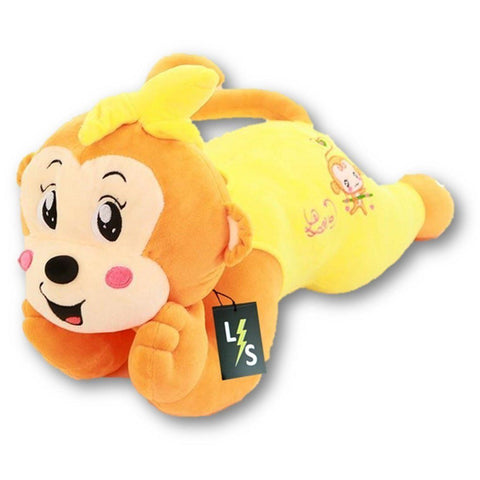 Toy - LightningStore Adorable Cute Big Giant Large Yellow Green Pink Red Monkey Pillow Cushion Bolster Stuffed Animal Doll Realistic Looking Plush Toys Plushie Children's Gifts Animals