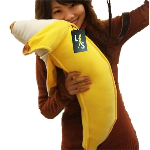Toy - LightningStore Adorable Cute Big Large Giant Huge Yellow Banana Pillow Cushion Bolster Doll Realistic Looking Stuffed Animal Plush Toys Plushie Children's Gifts Animals