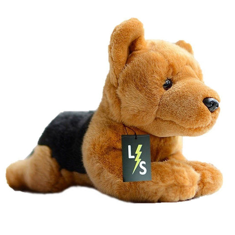 Toy - LightningStore Adorable Cute Black And Brown Herding Dog Doll Realistic Looking Stuffed Animal Plush Toys Plushie Children's Gifts Animals