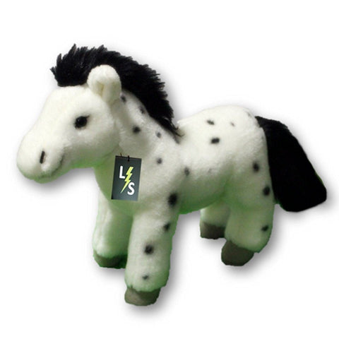 Toy - LightningStore Adorable Cute Black And White Spotted Horse Pony Stuffed Animal Doll Realistic Looking Plush Toys Plushie Children's Gifts Animals