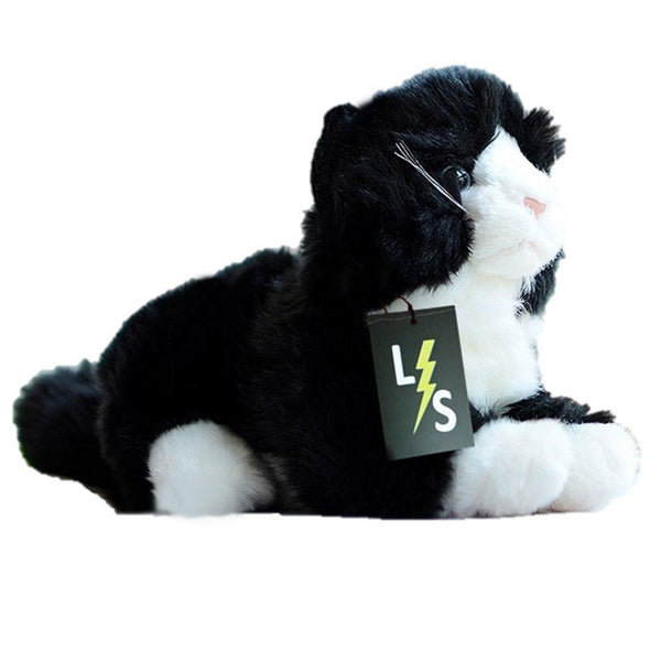 Toy - LightningStore Adorable Cute Black Baby Cat Kitten Doll Realistic Looking Stuffed Animal Plush Toys Plushie Children's Gifts Animals