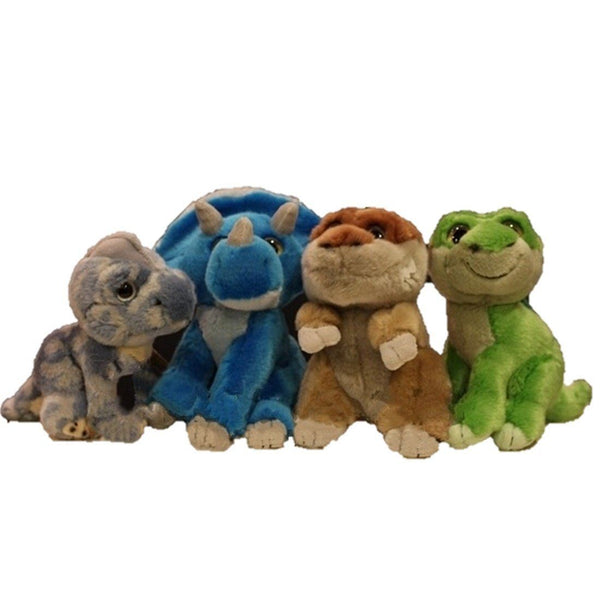 Toy - LightningStore Adorable Cute Blue Green Brown T Rex Tyrannosaurus Rex Triceratops Brachiosaurus Dinosaur Doll Realistic Looking Stuffed Animal Plush Toys Plushie Children's Gifts Animals