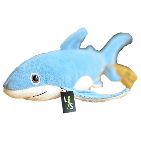 Toy - LightningStore Adorable Cute Blue Shark Stuffed Animal Doll Realistic Looking Plush Toys Plushie Children's Gifts Animals