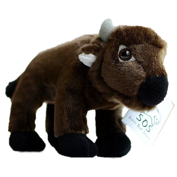 Toy - LightningStore Adorable Cute Brown Cow Bull Goat Doll Realistic Looking Stuffed Animal Plush Toys Plushie Children's Gifts Animals