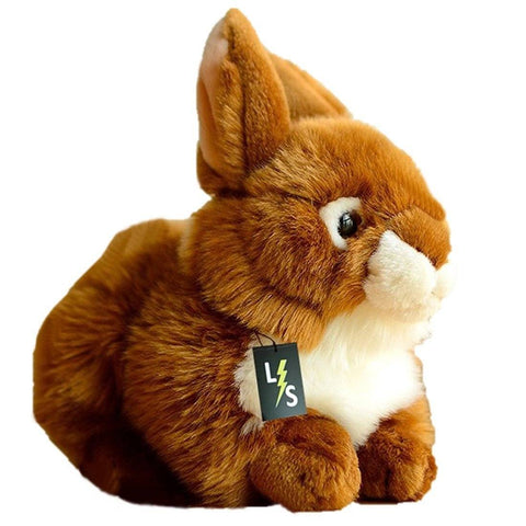 Toy - LightningStore Adorable Cute Brown Rabbit Bunny Stuffed Animal Doll Realistic Looking Plush Toys Plushie Children's Gifts Animals