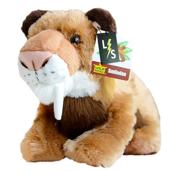 Toy - LightningStore Adorable Cute Brown Saber Tooth Tiger Stuffed Animal Doll Realistic Looking Plush Toys Plushie Children's Gifts Animals
