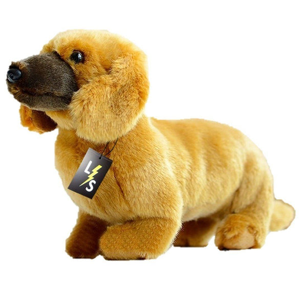 Toy - LightningStore Adorable Cute Brown Yellow Dachshund Long Body Sausage Puppy Baby Dog Doll Realistic Looking Stuffed Animal Plush Toys Plushie Children's Gifts Animals