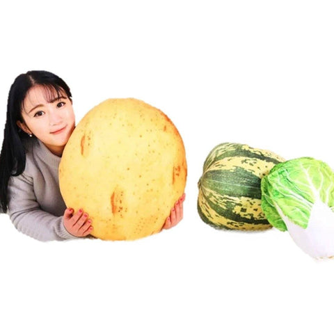Toy - LightningStore Adorable Cute Cabbage White Melon Mushroon Potato Vegetable Stuffed Animal Doll Realistic Looking Plush Toys Plushie Children's Gifts Animals