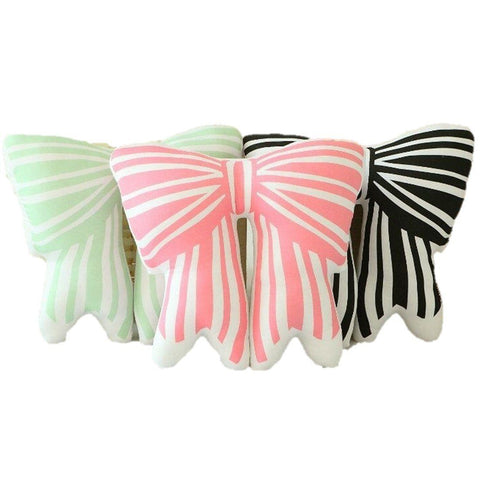 Toy - LightningStore Adorable Cute Colorful Black Pink Green Ribbon Bowtie Cushion Doll Realistic Looking Stuffed Animal Plush Toys Plushie Children's Gifts Animals