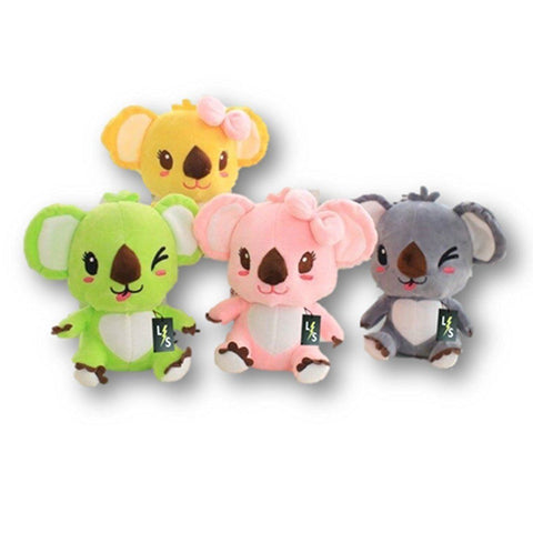 Toy - LightningStore Adorable Cute Colorful Green Yellow Pink Black Koala Stuffed Animal Doll Realistic Looking Plush Toys Plushie Children's Gifts Animals
