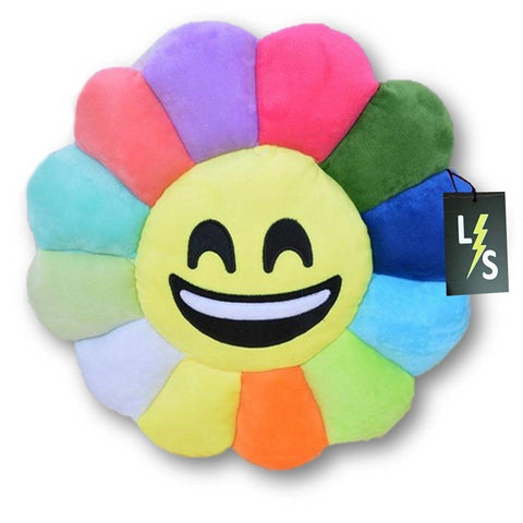 Toy - LightningStore Adorable Cute Colorful Rainbow Red Orange Yellow Blue Green Purple Big Mouth Smile Emotion Sunflower Doll Pillow Cushion Realistic Looking Plush Toys Plushie Children's Gifts Animals