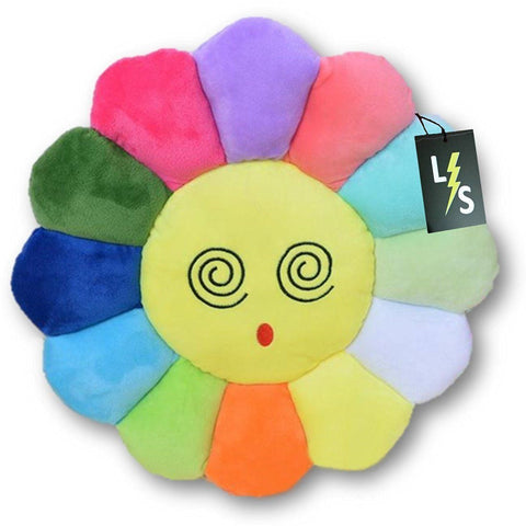 Toy - LightningStore Adorable Cute Colorful Rainbow Red Orange Yellow Blue Green Purple Dizzy Eye Emotion Sunflower Doll Pillow Cushion Realistic Looking Plush Toys Plushie Children's Gifts Animals