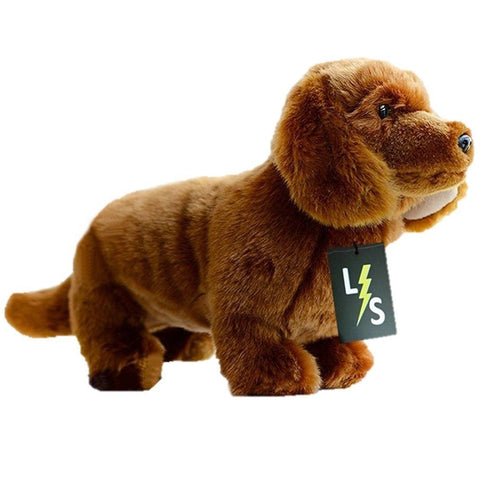 Toy - LightningStore Adorable Cute Dark Brown Dachshund Long Body Sausage Puppy Baby Dog Doll Realistic Looking Stuffed Animal Plush Toys Plushie Children's Gifts Animals