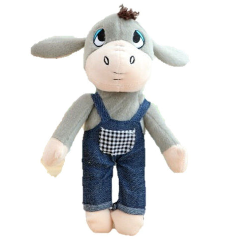 Toy - LightningStore Adorable Cute Donkey Wearing Blue Jeans Apron Doll Stuffed Animal Plush Toys Plushie Children's Gifts Animals