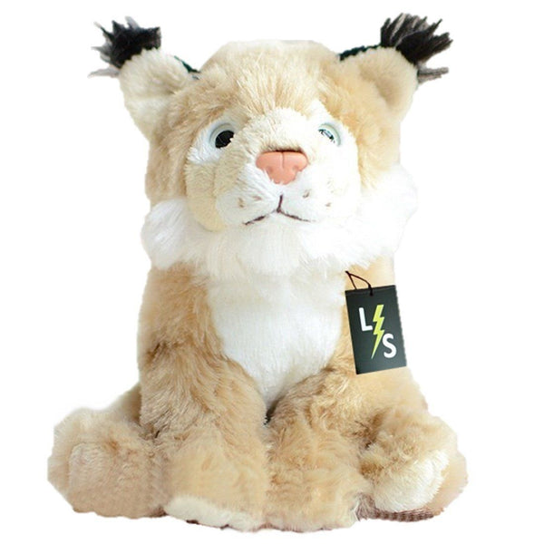 Toy - LightningStore Adorable Cute Eurasian Lynx Stuffed Animal Doll Realistic Looking Plush Toys Plushie Children's Gifts Animals