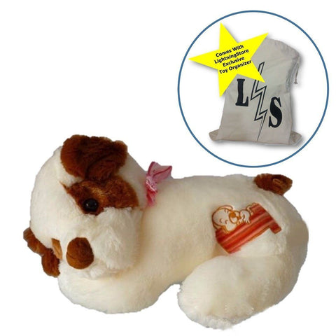 Toy - LightningStore Adorable Cute Giant Big Large Sleeping Jack Russell Dog Doll Realistic Looking Stuffed Animal Plush Toys Plushie Children's Gifts Animals + Toy Organizer Bag Bundle