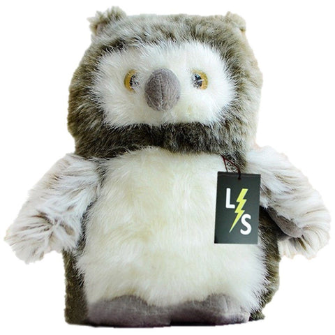 Toy - LightningStore Adorable Cute Gray Grey Collared Scops Owl Stuffed Animal Doll Realistic Looking Plush Toys Plushie Children's Gifts Animals