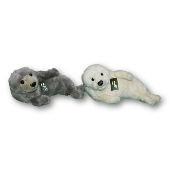 55c04a4da733 Toy - LightningStore Adorable Cute Gray Grey White Seal Stuffed Animal Doll  Realistic Looking Plush Toys