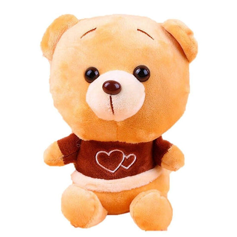 Toy - LightningStore Adorable Cute Light Brown Dark Brown Red Bear Doll Realistic Looking Stuffed Animal Plush Toys Plushie Children's Gifts Animals