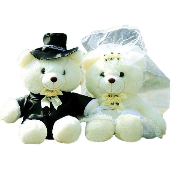 Toy - LightningStore Adorable Cute Male And Female Mr.and Misses Bride And Groom Bear Couples Married Wedding Bear Set Doll Realistic Looking Stuffed Animal Plush Toys Plushie Children's Gifts Animals