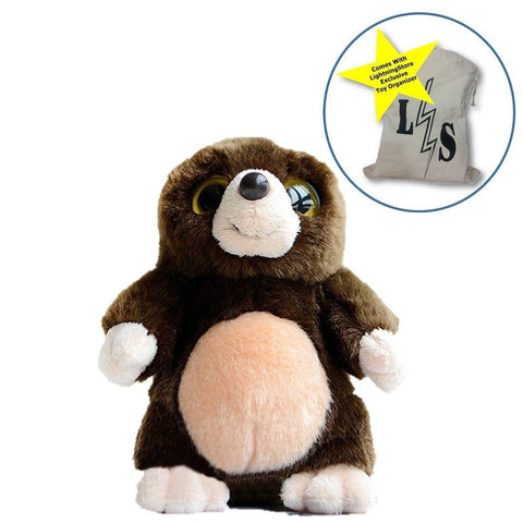 Toy - LightningStore Adorable Cute Mole Doll Big Eyes Realistic Looking Stuffed Animal Plush Toys Plushie Children's Gifts Animals + Toy Organizer Bag Bundle