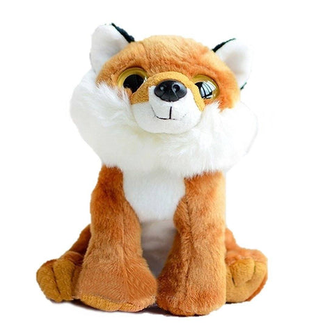 Toy - LightningStore Adorable Cute Orange Fox Doll Big Eyes Realistic Looking Stuffed Animal Plush Toys Plushie Children's Gifts Animals