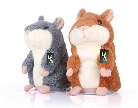 Toy - LightningStore Adorable Cute Orange Gray Grey Talking Hamster Guinea Pig Stuffed Animal Doll Realistic Looking Plush Toys Plushie Children's Gifts Animals