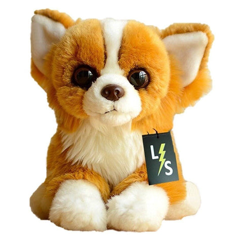 Toy - LightningStore Adorable Cute Orange Papillon Dog Puppy Stuffed Animal Doll Realistic Looking Plush Toys Plushie Children's Gifts Animals