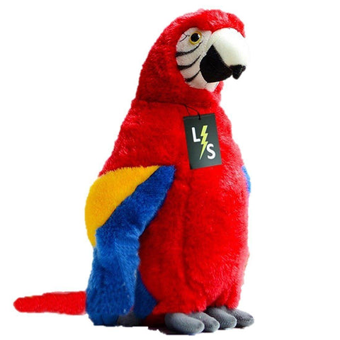 Toy - LightningStore Adorable Cute Red Orange And Blue Parrot Stuffed Animal Doll Realistic Looking Plush Toys Plushie Children's Gifts Animals