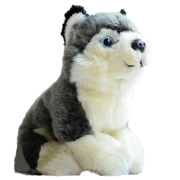 Toy - LightningStore Adorable Cute Siberian Husky Baby Puppy Dog Doll Realistic Looking Stuffed Animal Plush Toys Plushie Children's Gifts Animals