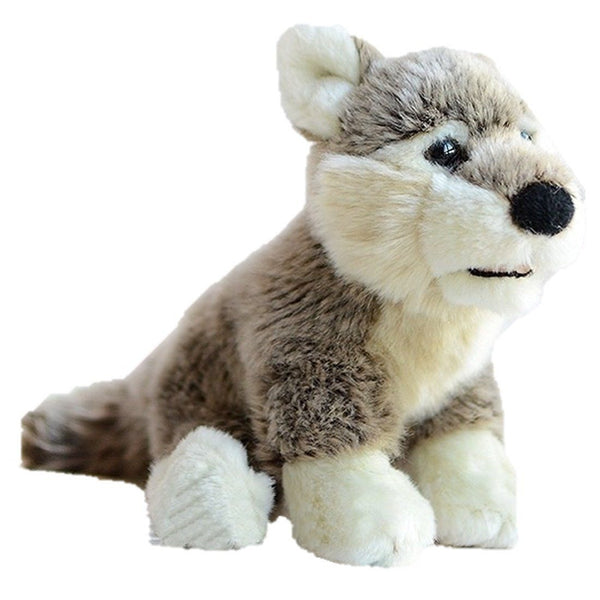 Toy - LightningStore Adorable Cute Siberian Husky Puppy Baby Dog Doll Realistic Looking Stuffed Animal Plush Toys Plushie Children's Gifts Animals