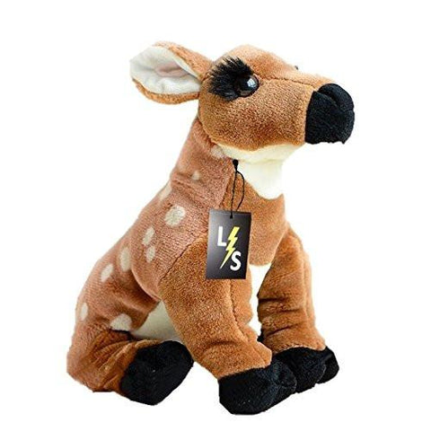 Toy - LightningStore Adorable Cute Sika Deer Doll Realistic Looking Stuffed Animal Plush Toys Plushie Children's Gifts Animals
