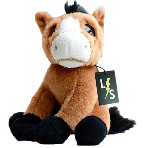 Toy - LightningStore Adorable Cute Sitting Baby Brown Horse Pony Stuffed Animal Doll Realistic Looking Plush Toys Plushie Children's Gifts Animals