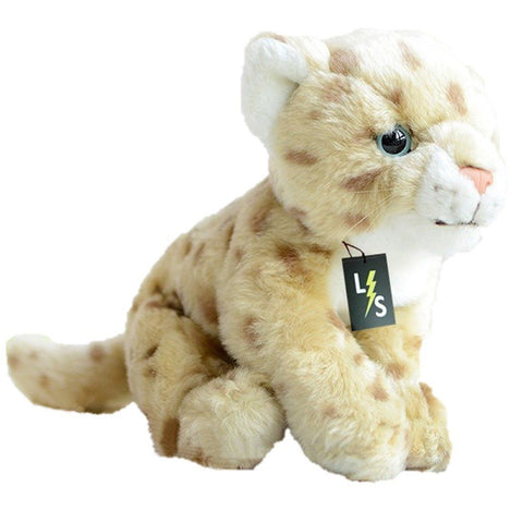 Toy - LightningStore Adorable Cute Sitting Baby Cub Jaguar Cheetah Lion Leopard Stuffed Animal Doll Realistic Looking Plush Toys Plushie Children's Gifts Animals