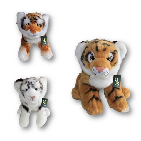 Toy - LightningStore Adorable Cute Sitting Baby Orange White Tiger Cub Brothers Stuffed Animal Doll Realistic Looking Plush Toys Plushie Children's Gifts Animals