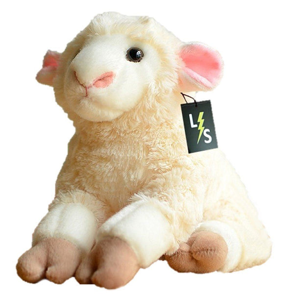 c777a315d9ae Toy - LightningStore Adorable Cute Sitting Baby White Sheep Stuffed Animal  Doll Realistic Looking Plush Toys
