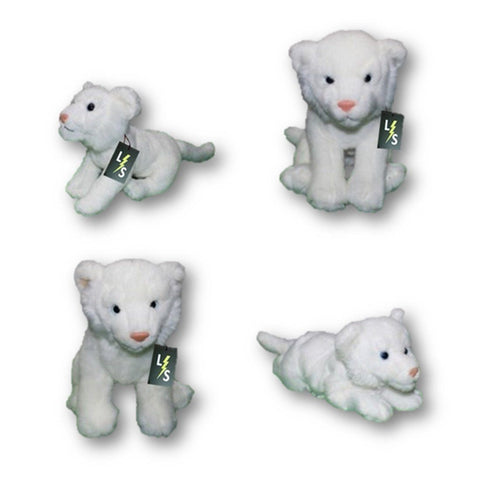 Toy - LightningStore Adorable Cute Sitting Baby White Tiger Cub Brothers Stuffed Animal Doll Realistic Looking Plush Toys Plushie Children's Gifts Animals